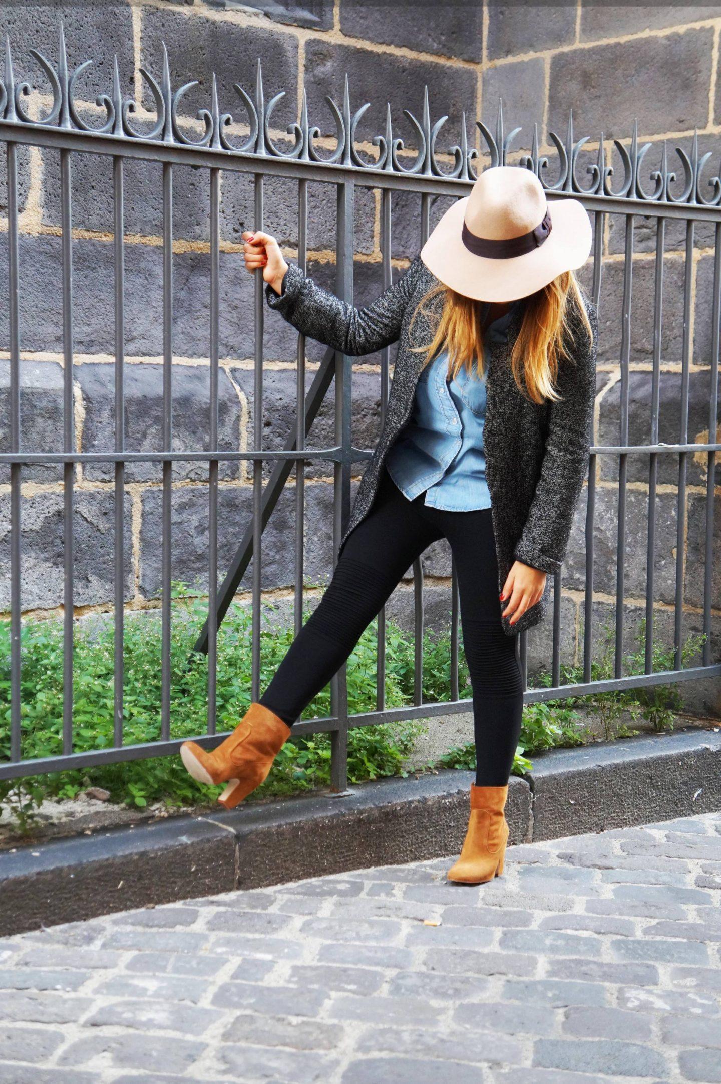 Chapeau camel et bottes de daim ! #look d'automne