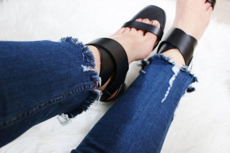 DIY Un jean effrangé maison