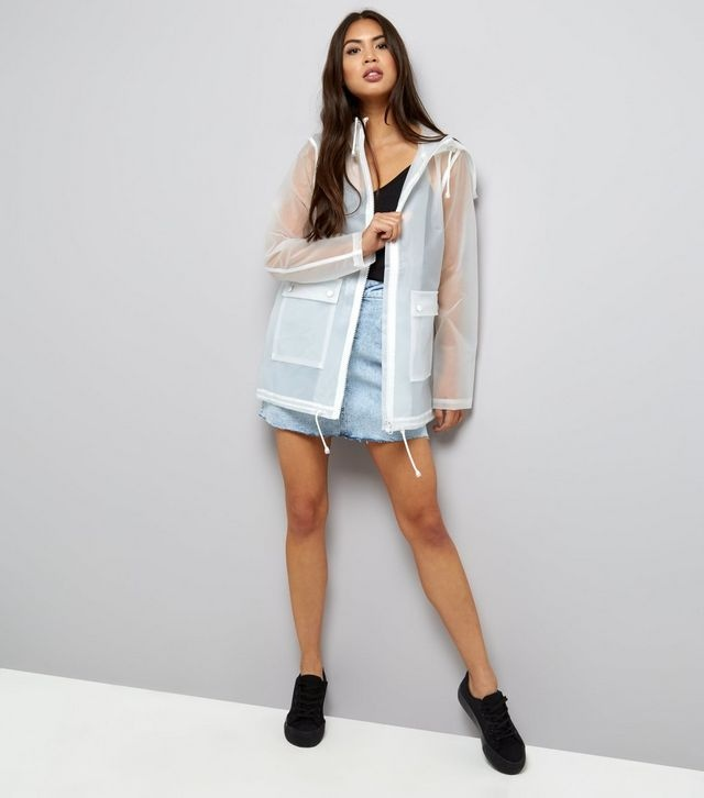 anorak blanc, anorak transparent, blog mode, new look