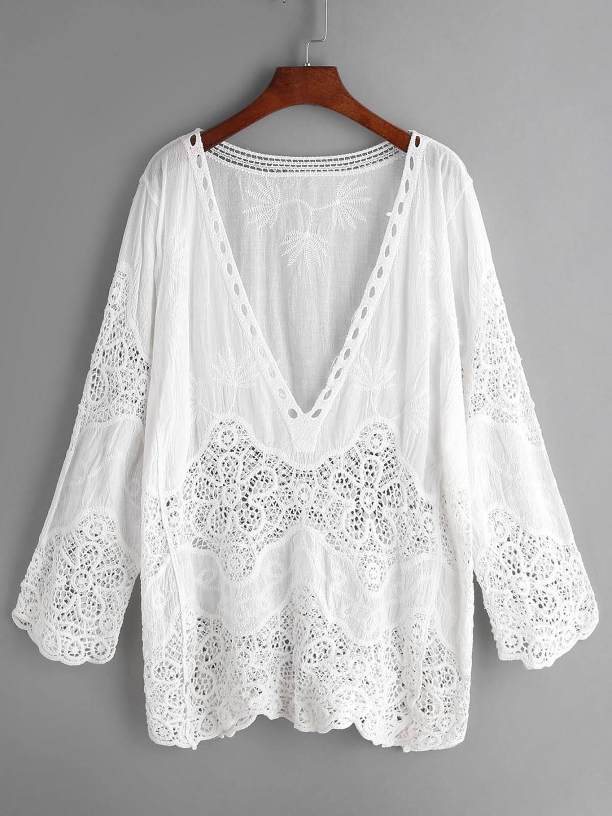 caftan, blouse femme, blouse boheme, blog mode, haut dentelle, shein