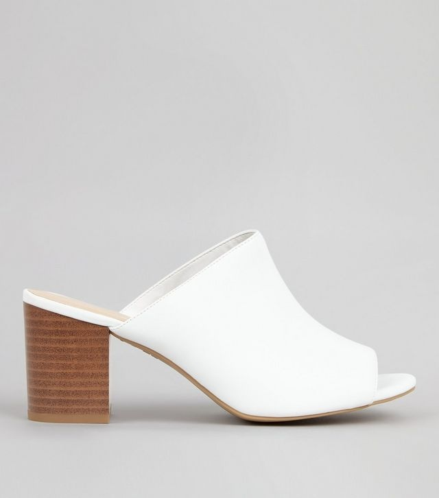 mules-blanches-à-talons-et-bouts-ouverts, mules blanches, new look, blog mode, mules