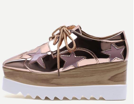 inspiration stella mccartney, stella mccartney, chaussures compensées, plateform shoes, blog mode, the green ananas